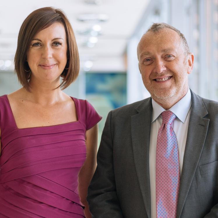 Cathie Paine and Sir Steve Lancashire